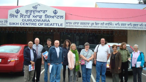 Inter faith Group meeting at Sikh Center of Seattle