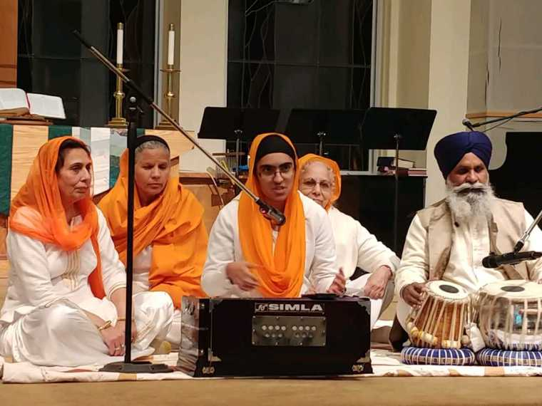 Thanksgiving Sikh close up singers