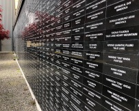 Wall of rememberance outside the Nisei Veterans Committee building in Seattle